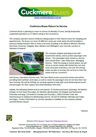 Cuckmere buses to resume service