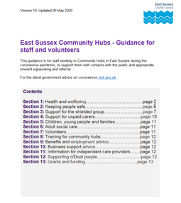 East Sussex Community News - Guidance for staff and Volunteers